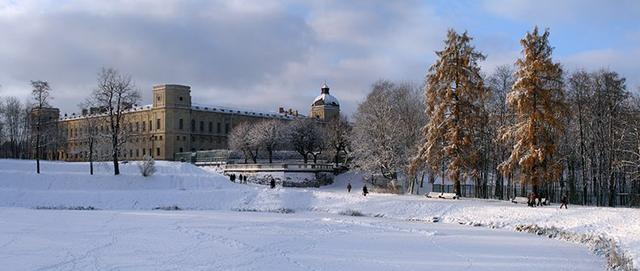 Гатчина дворец зима