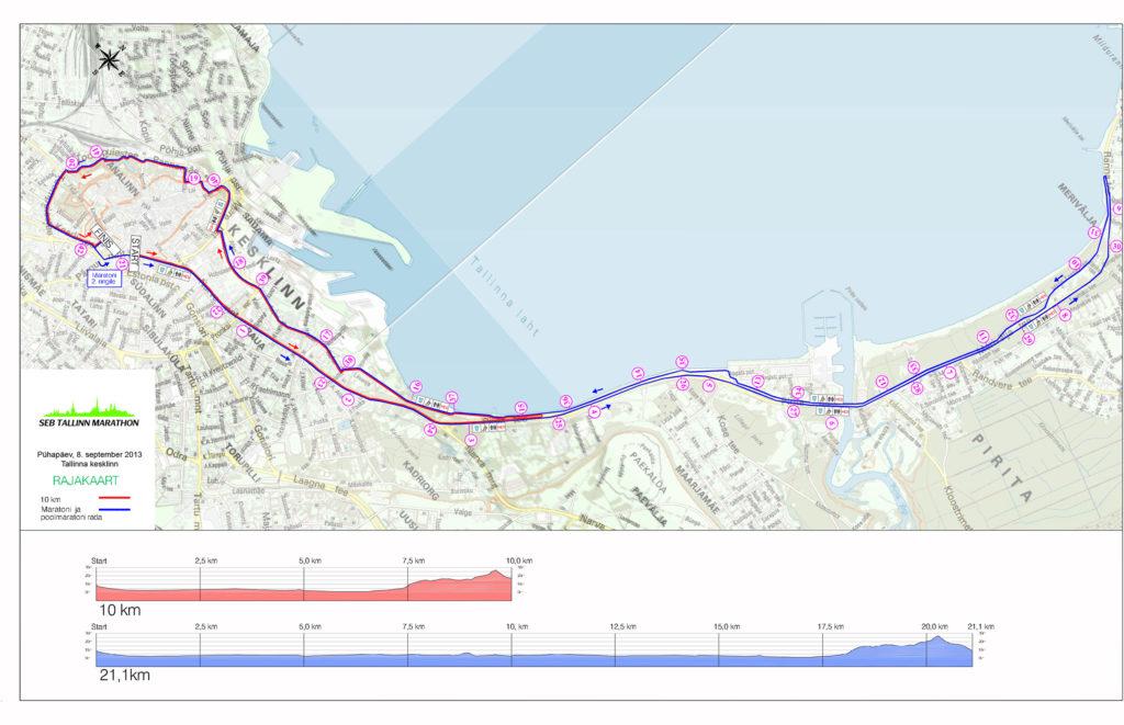 Таллинский марафон карта трассы