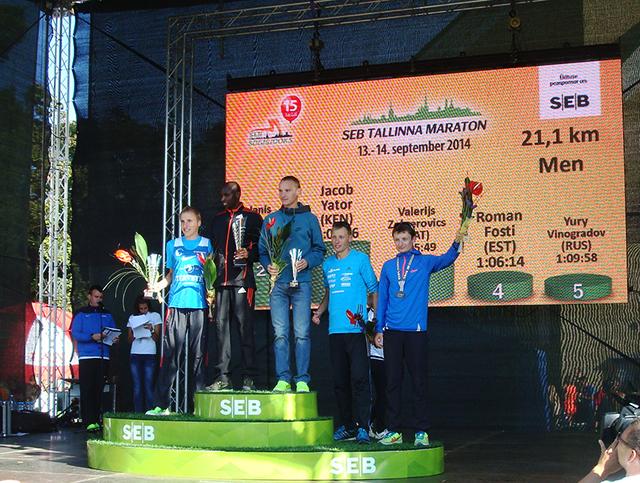 Таллинский марафон награждение победителей